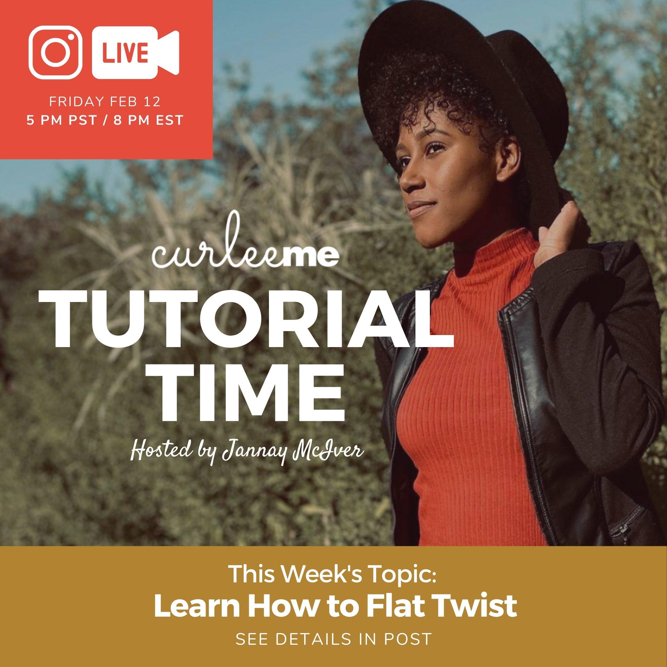 flat twist tutorial with Jannay McIver